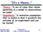it s a theory