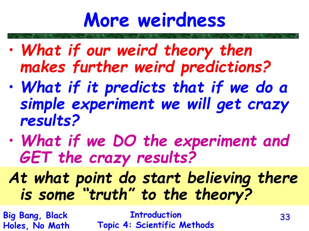 More weirdness