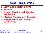 next topics unit 2