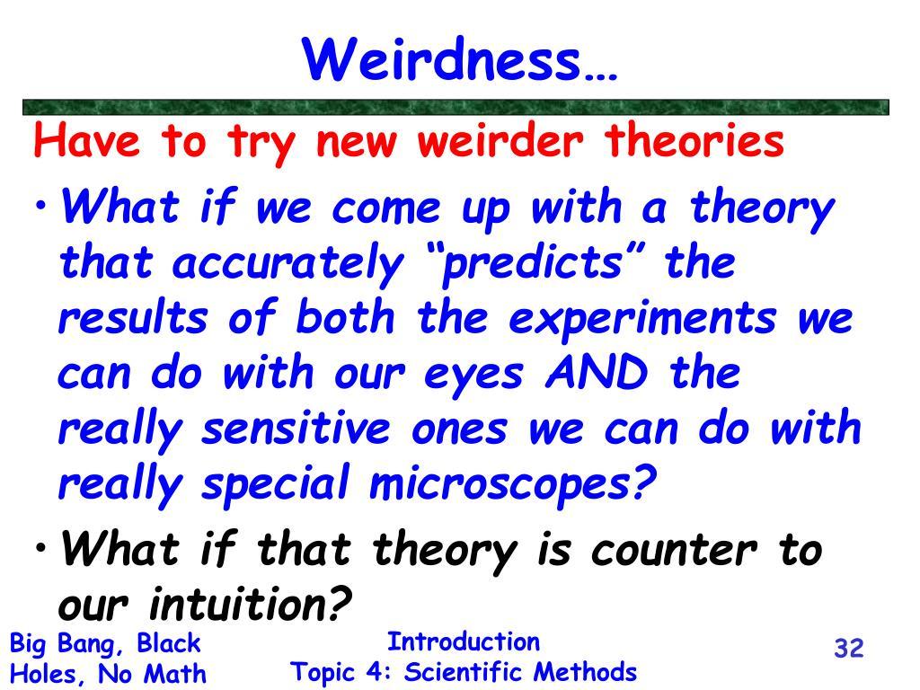 Weirdness…