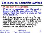 yet more on scientific method