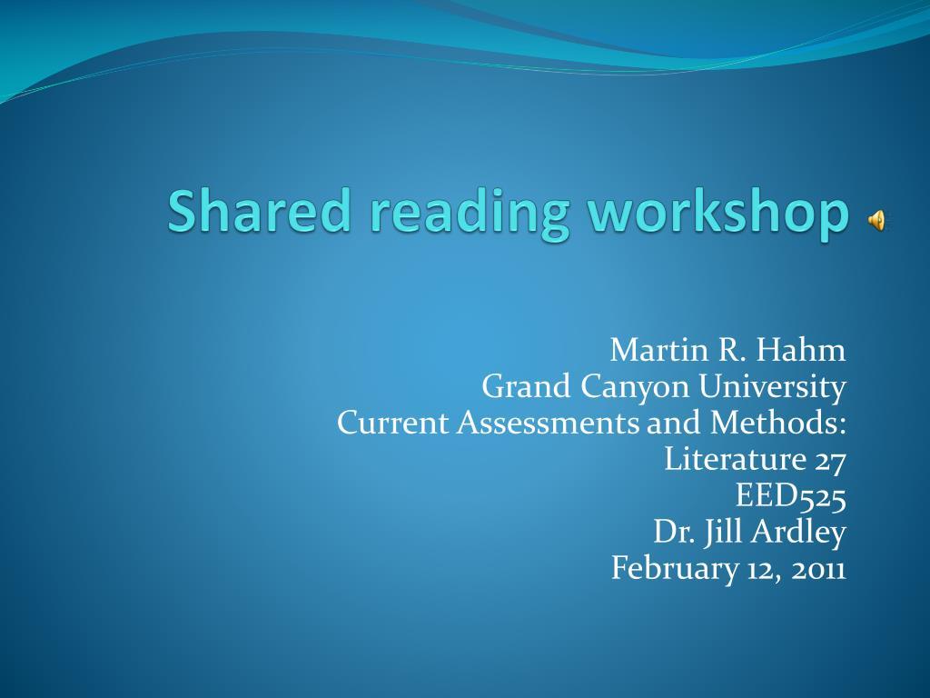 shared reading workshop l.