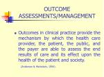 outcome assessments management