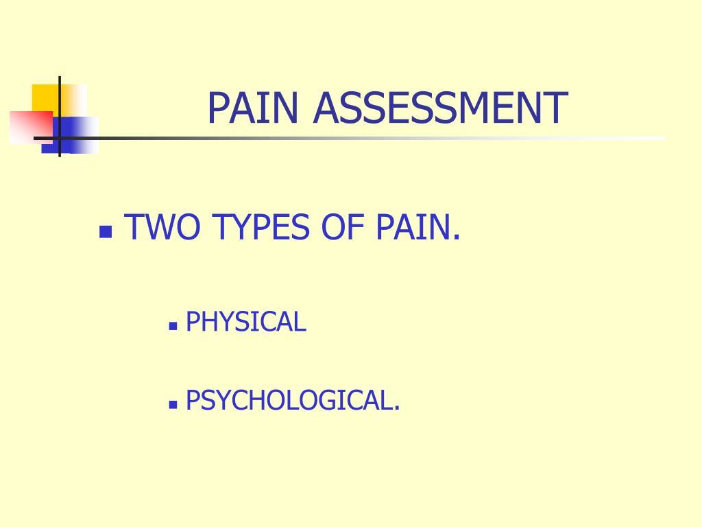 pain assessment l.