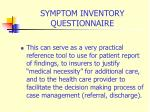 symptom inventory questionnaire