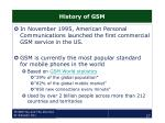 history of gsm27
