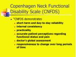 copenhagen neck functional disability scale cnfds