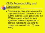 ctsq reproducibility and consistency