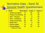 normative data rand 36 general health questionnaire