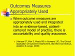 outcomes measures appropriately used