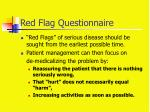 red flag questionnaire