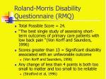 roland morris disability questionnaire rmq