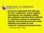 subjective vs objective