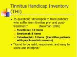 tinnitus handicap inventory thi