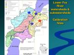 lower fox river watersheds subwatersheds calibration sites