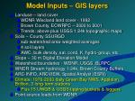 model inputs gis layers