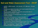 soil and water assessment tool swat