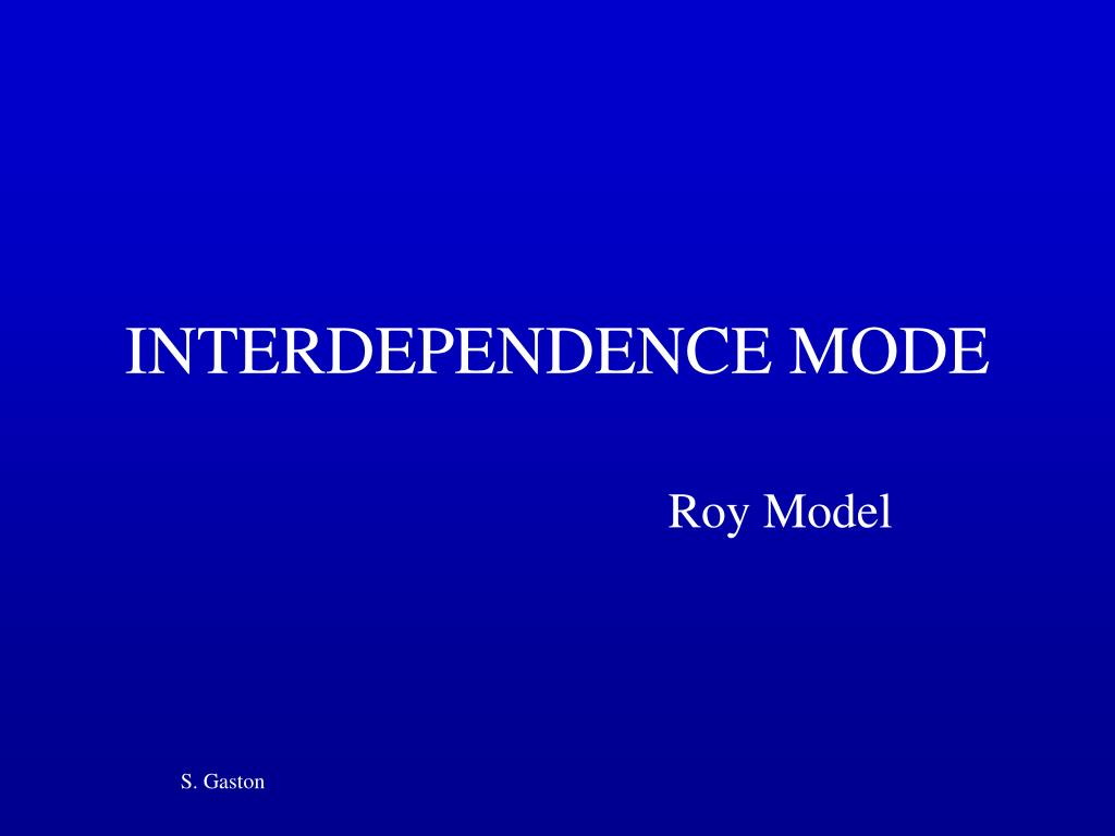 interdependence mode l.