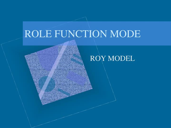 role function mode n.