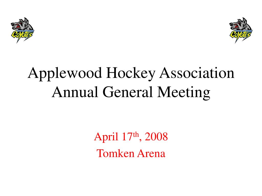 applewood hockey association annual general meeting l.