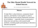 the ohio mental health network for school success h ttp www units muohio edu csbmhp network html