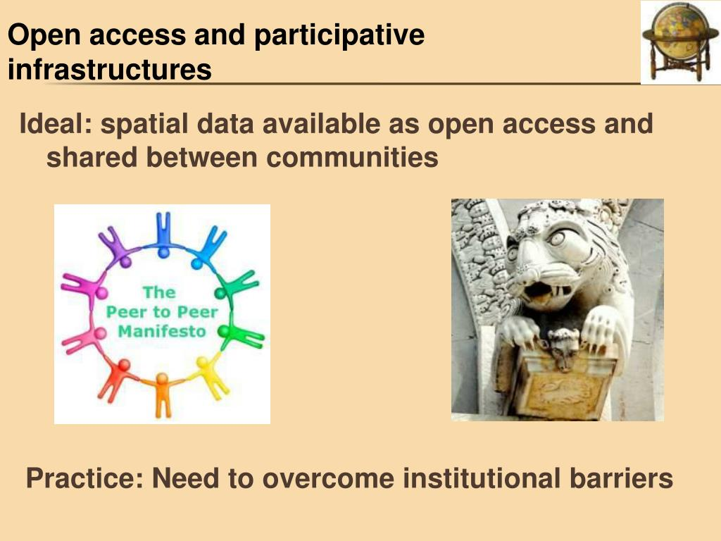 Open access and participative infrastructures
