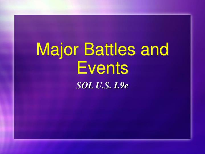 major battles and events n.