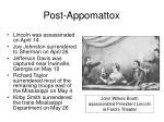 post appomattox