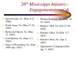 26 th mississippi infantry engagements cont d53