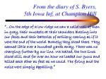 from the diary of s byers 5th iowa inf at champion hill