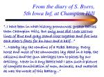 from the diary of s byers 5th iowa inf at champion hill20