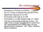 his military record