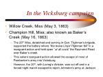 in the vicksburg campaign