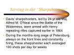 serving in the sharpshooters35