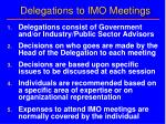 delegations to imo meetings