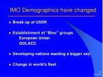 imo demographics have changed