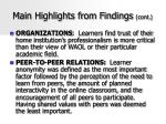 main highlights from findings cont42