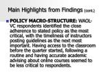 main highlights from findings cont43