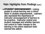 main highlights from findings cont44