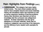 main highlights from findings cont45