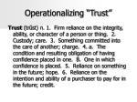 operationalizing trust
