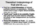 theoretical underpinnings of trust and dl cont