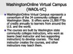washingtononline virtual campus waol vc