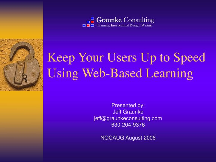 Keep your users up to speed using web based learning