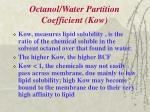 octanol water partition coefficient kow