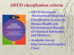 oecd classification criteria