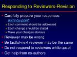 responding to reviewers revision