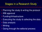 stages in a research study