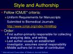 style and authorship