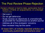 the post review phase rejection